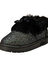 Zapatos de mujer - Tacón Bajo - Punta Redonda - Botas - Casual - Semicuero - Negro / Rosa / Gris