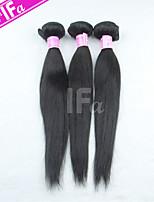 3pcs pelo virginal brasileño / lot pelo liso extensión de cabello humano color 1b