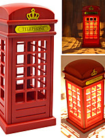 Vintage London Telephone Booth Designed USB Charging LED Touch Sensor Table Lamp