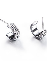 925 Sterling Silver CZ Stone Earring Studs