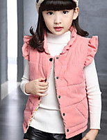 Girl's Green / Pink / Red Vest , Check Cotton Blend Winter / Spring / Fall