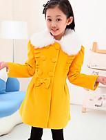 Veste & Manteau Fille de Hiver / Printemps / Automne Polyester Orange / Rouge / Jaune
