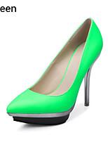 Women's Shoes Leatherette Stiletto Heel Heels / Platform / Pointed Toe Heels Party