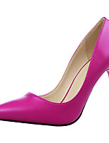 Women's Shoes Leatherette Stiletto Heel Heels Heels Dress / Casual Black / Yellow / Pink / Red / Gray / Bone