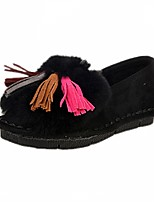 Women's Shoes Flat Heel Comfort / Round Toe Loafers Casual Black / Gray / Animal Print