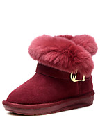 Girl Shoes Wedding / Outdoor / Dress / Casual Suede Boots / Fashion Sneakers Burgundy