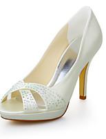 Women's Wedding Shoes Heels / Peep Toe / Platform Sandals Wedding / Dress Ivory / White