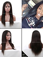 Premierwigs 8A 10''-24'' Silky Straight Soft Full Brazilian Virgin Lace Front Wigs Natural Hairline No Reason Return