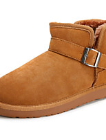Women's Shoes Suede Flat Heel Snow Boots / Fashion Boots Boots Outdoor / Casual Brown / Gray / Taupe