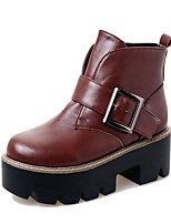 Women's Shoes Wedge Heel Wedges / Bootie / Comfort / Round Toe Boots Casual Black / Red / Gray