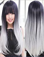 europe black and grey heat resistant hairwigs