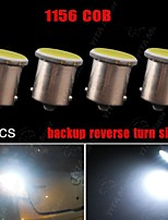 4PCS Pure White 1156 BA15S 1141 7506 2W COB LED Tail Turn Backup Reverse Light