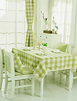 Green  Plaid Lacy Design  Jacquard  Tablecloths Fabric Tea Tablecloth