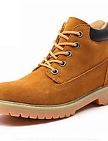 Women's Shoes Suede Flat Heel Cowboy / Western Boots / Motorcycle Boots Boots Outdoor / Casual Yellow
