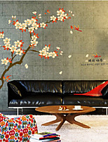Wall Stickers Wall Decals, Apricot PVC Wall Stickers