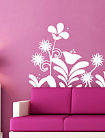 Botanical / Fashion Wall Stickers Plane Wall Stickers , PVC 86.4cm*61cm
