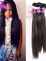 Wholesale Human Hair Straight Extension Natural Color Brazilian Virgin Human Hair Weaving 10-28inch in Stock