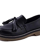 Women's Shoes Leatherette Low Heel Pointed Toe Loafers Outdoor / Casual Black