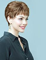superior corto spiffy recta monofilamento cabello humano (1