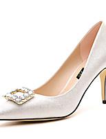 Women's Shoes Synthetic Stiletto Heel Heels / Comfort Heels Party & Evening / Dress / Casual Black / Silver