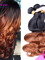 Ombre Malaysian Virgin Hair Body Wave,Ombre Human Hair 3 Bundles Color Ombre Hair Extensions Two Tone 1b/30 Stocks
