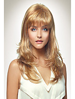 Fashion Lady Style Capless Fashion Long Curly Blonde Synthetic Wig