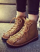 Women's Shoes Flat Heel Comfort Boots Outdoor Black / Khaki
