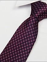 Dark Red Arrow Jacquard polyester silk Men Adult Necktie Tie