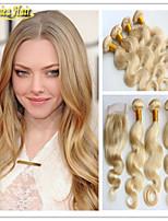 3 pc / lotto migliori qualità 8a dell'onda corpo vergine dei capelli umani, a buon mercato non trattato dei capelli umani brasiliani 3