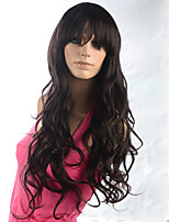 2015 Women Ombre Fashion Natural Wavy Brown Janpanese Heat Resistant Synthetic Long Hair Wig 8855L-2T33 24