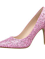 Women's Shoes Glitter Stiletto Heel Heels Heels Party & Evening / Dress Black / Pink / Purple / Red / White / Silver