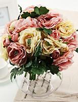 Silk / Plastic Roses Artificial Flowers 1pcs/set