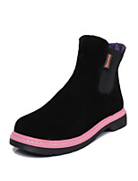 Chaussures Femme - Décontracté - Noir / Marron / Violet - Talon Bas - Bout Pointu - Bottes - Similicuir