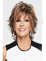 Woman's Light Gold Straight Short Synthetic Mix Wigs