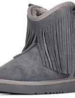 Women's Shoes Suede Flat Heel Snow Boots / Fashion Boots Boots Office & Career / Dress / Casual Brown / Gray / Taupe