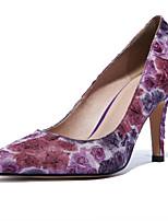 Women's Shoes Silk Stiletto Heel Heels / Pointed Toe Heels Wedding / Dress Blue / Purple / White