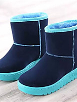 Women's Shoes Low Heel Round Toe Boots Casual Black / Blue / Gray