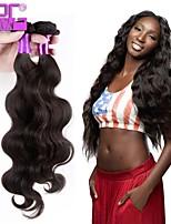 style de mode naturelle vague de corps noir des trames de cheveux vierges péruvien non transformés