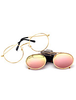 100% UV400 Round Fashion Mirrored Cover Sunglasses