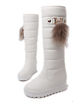 Women's Shoes Platform Snow Boots / Round Toe Boots Dress / Casual Black / Red / White