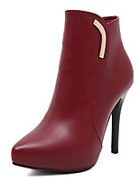 Women's Shoes Leather Stiletto Heel Comfort Pointed Toe Boots Party and Dress More Colors Available