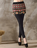 Women Print Legging , Cotton / Others Medium