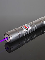 OXLasers OX-V40  Flashlight Shaped Powerful Focusable Burning Violet Purple Laser Pointer (5mW, 405nm, 2*16340, Silver)