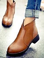 Chaussures Femme - Habillé / Décontracté - Noir / Marron - Talon Bas - Confort / Bottes à la Mode - Bottes - Similicuir