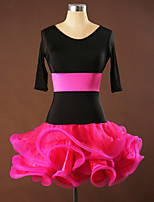 Vestidos ( Negro / Azul , Spandex / Crepe / Viscosa , Danza Latina / Desempeño / Samba ) - Danza Latina / Desempeño / Samba - para Mujer