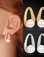 Instyle 18K Real Gold Platinum Plated Rhinestone Earrings High Quality