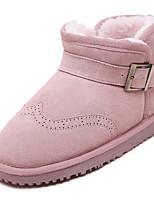 Chaussures Femme - Extérieure / Habillé / Décontracté - Noir / Rose / Gris / Kaki - Talon Plat - Bottes de Neige - Bottes - Cuir