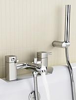 Bath Shower Mixer Tap With Handset, Holder  Hose - Chrome