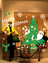 Christmas Wall Stickers Plane Wall Stickers , PVC 67.6cm*64.4cm