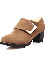 Women's Shoes Chunky Heel Comfort / Round Toe Heels Outdoor / Office & Career / Dress / Casual Black / Red / Beige